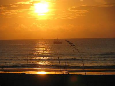 Photograph - Shrimp Boat Sunrise by Ellen Meakin