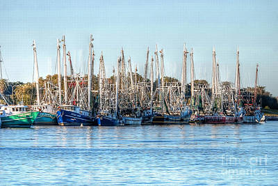 Photograph - Shrimp Boats 3 Port Arthur Texas by D Wallace