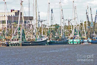 Photograph - Shrimp Boats 3 Port Arthur Texas by D Wallace