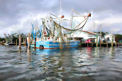 Photograph - Shrimp Boats At Aquila Seafood by Lynn Jordan