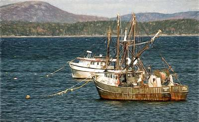 Photograph - Shrimp Boats by Bill Howard