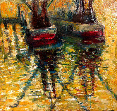 Painting - Shrimp Boats by Daniel Bonnell