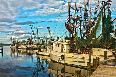 Shrimp Boats Art Print