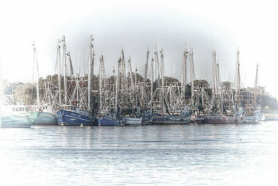 Photograph - Shrimp Boats Docked At Port Arthur by D Wallace