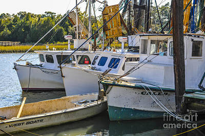 Photograph - Shrimp Boats In Mccellanville Sc by Dale Powell