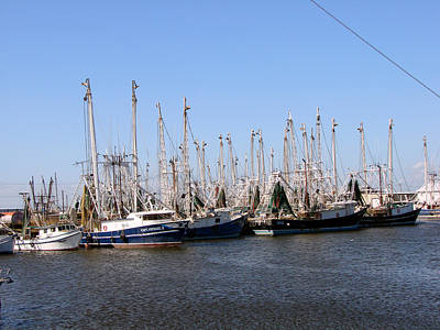 Photograph - Shrimp Boats In Port At Palacious by Linda Cox