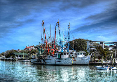 Photograph - Shrimp Boats by Kathy Baccari