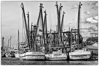 Shrimp Boats Art Print by Robert  FERD Frank