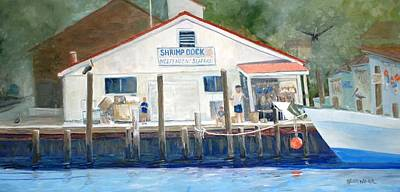 Painting - Shrimp Dock by Keith Wilkie