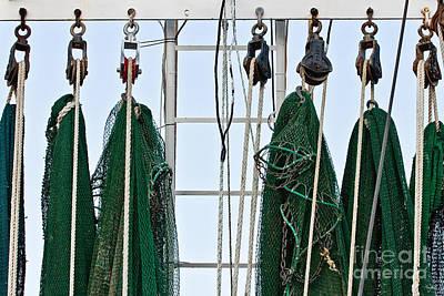 Shrimp Nets Art Print by Scott Pellegrin