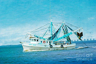 Shrimp Boat Photograph - Shrimp Trawler by Laura D Young