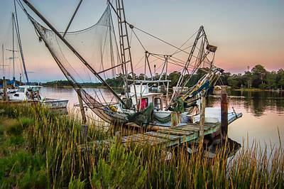 Digital Art - Shrimpboat On The Bon Secour by Michael Thomas