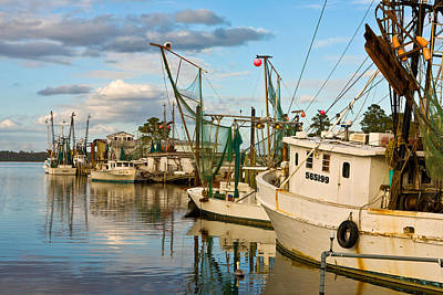 Shrimpers Cove Art Print