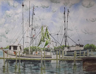 Shrimper Painting - Shrimpers by Gary Thomas