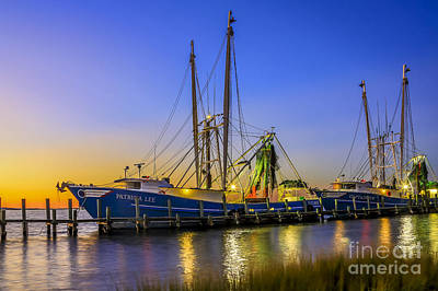 Photograph - Shrimp Boat Sunset by Paula Porterfield-Izzo