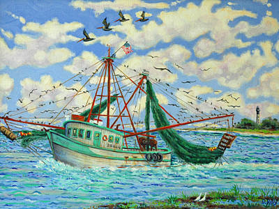 Shrimpin Art Print by Dwain Ray