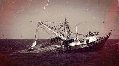 Photograph - Shrimping In The Harbor by Robert Bascelli