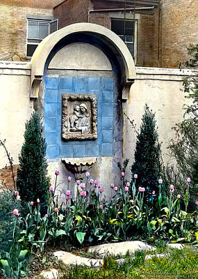 Classical Photograph - Shrine And Tulips by Terry Reynoldson