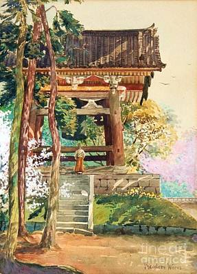 Painting - Shrine In Spring by Pg Reproductions