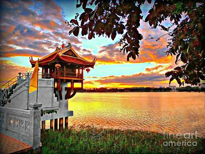Photograph - Shrine On The Lake. by Ian Gledhill