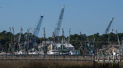 Photograph - Shrimp Boats On Jeremy Creek by Dale Powell