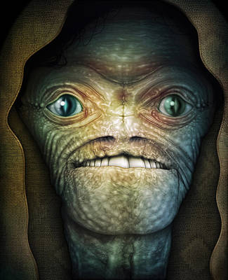 Digital Art - Shrouded Alien by James Larkin
