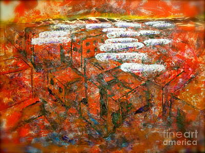 Shrouds Of The Innocent Over Damascus Art Print by Thomas Dudas