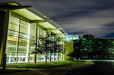 Photograph - Shs Lower Cafeteria At Night by Alan Marlowe