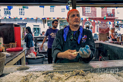 Photograph - Shucking Oysters In The French Quarter by Kathleen K Parker