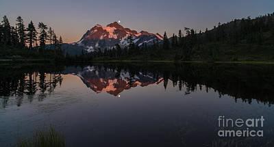 Photograph - Shuksan Moonrise by Mike Reid