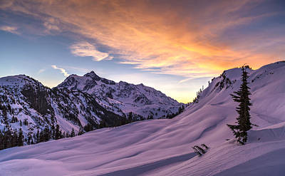 North Cascades Photograph - Shuksan Morning Skies by Mike Reid