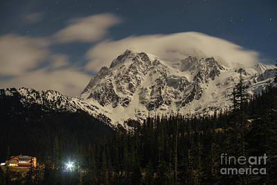 Photograph - Shuksan Night Moves by Mike Reid