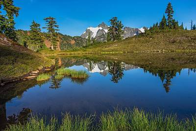Photograph - Shuksan Reflection by Gene Garnace