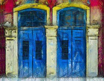 Shutter Doors In Lil India Art Print by Joseph Hollingsworth