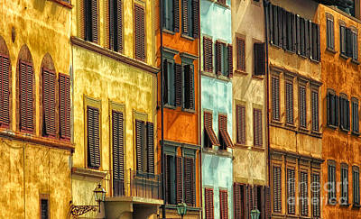 Shuttered Windows Of Florence Art Print by Mike Nellums