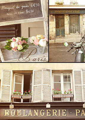 Photograph - Shutters Of Paris by Heidi Hermes