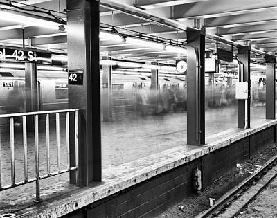 Photograph - Shuttle 42nd Street by Dave Beckerman