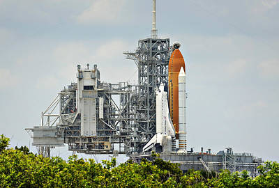 Photograph - Shuttle Endeavour Is Prepared For Launch by Ricky Barnard