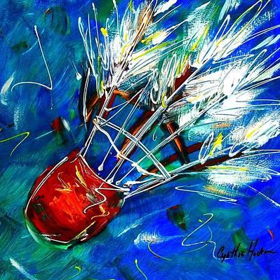 Shuttlecock Ll Art Print by Cynthia Hudson