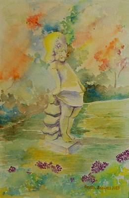 Painting - Shy Garden Angel by Geeta Biswas
