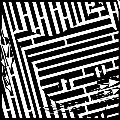 Optical Illusion Maze Digital Art - Shy Hiding Cat Maze by Yonatan Frimer Maze Artist