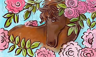 Digital Art - Shy Winner by Elaine Jackson