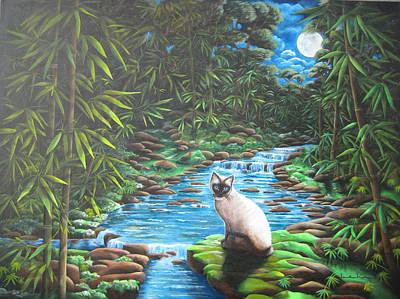 Siamese Bamboo Art Print by Diana Lehr