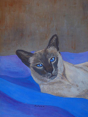 Painting - Siamese Blue by Margaret Saheed
