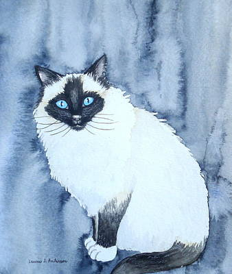 Painting - Siamese Cat by Laurie Anderson