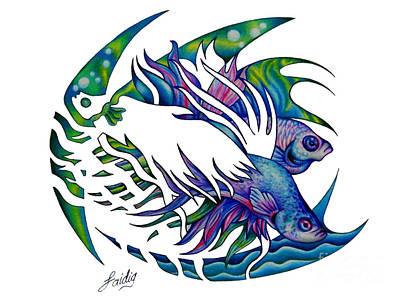 Siamese Fighting Fish Art Print by Aarron  Laidig