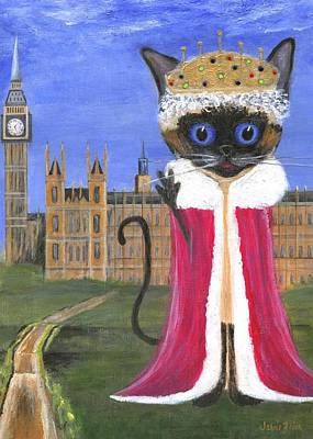 Painting - Siamese Queen Of England by Jamie Frier
