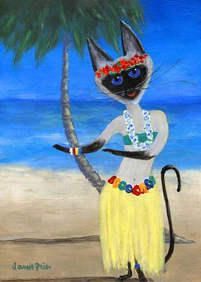 Painting - Siamese Queen Of Hawaii by Jamie Frier