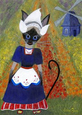 Painting - Siamese Queen Of Holland by Jamie Frier