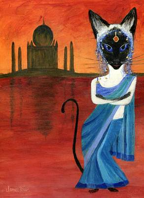 Painting - Siamese Queen Of India by Jamie Frier
